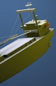 3D model of a ship