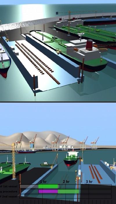 Port docking animation