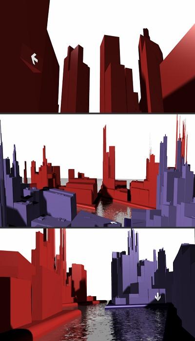3D city animation