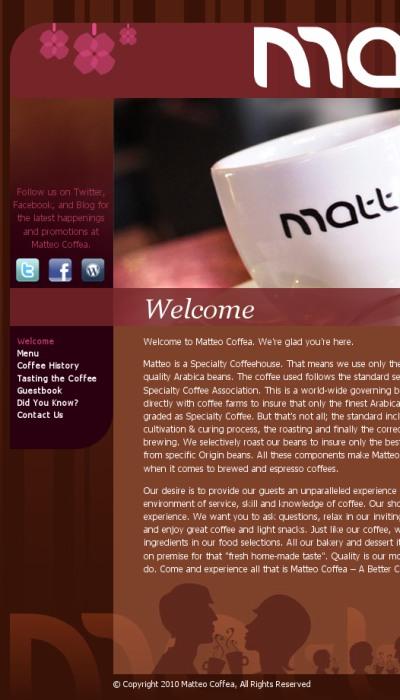 Coffe house web template design