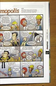 Original illustrated comic strip