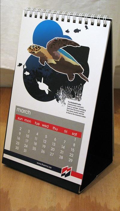 Wildlife table calendar design