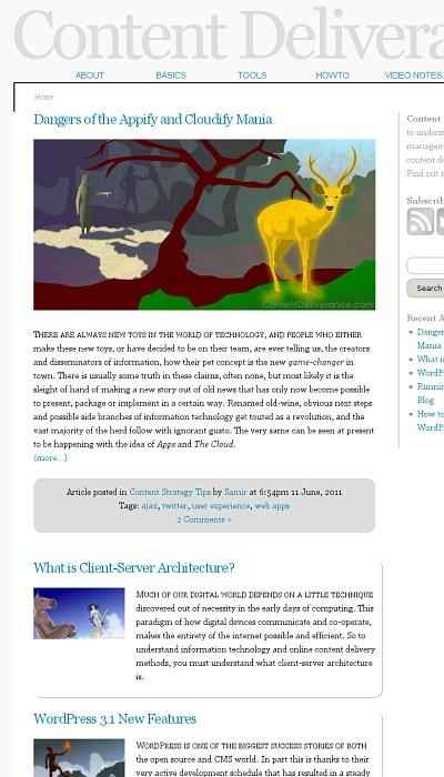Minimal blog layout design